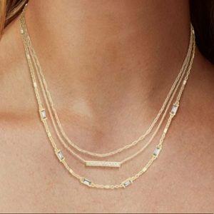 Kendra Scott Addison Triple Strand Necklace Gold